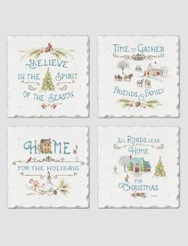 Conimar Art Our Christmas Story Tumbled Tile Coaster Set