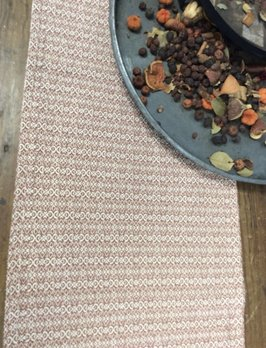 Nana's Farmhouse Fairfax Pumpkin Cream Short Table Runner