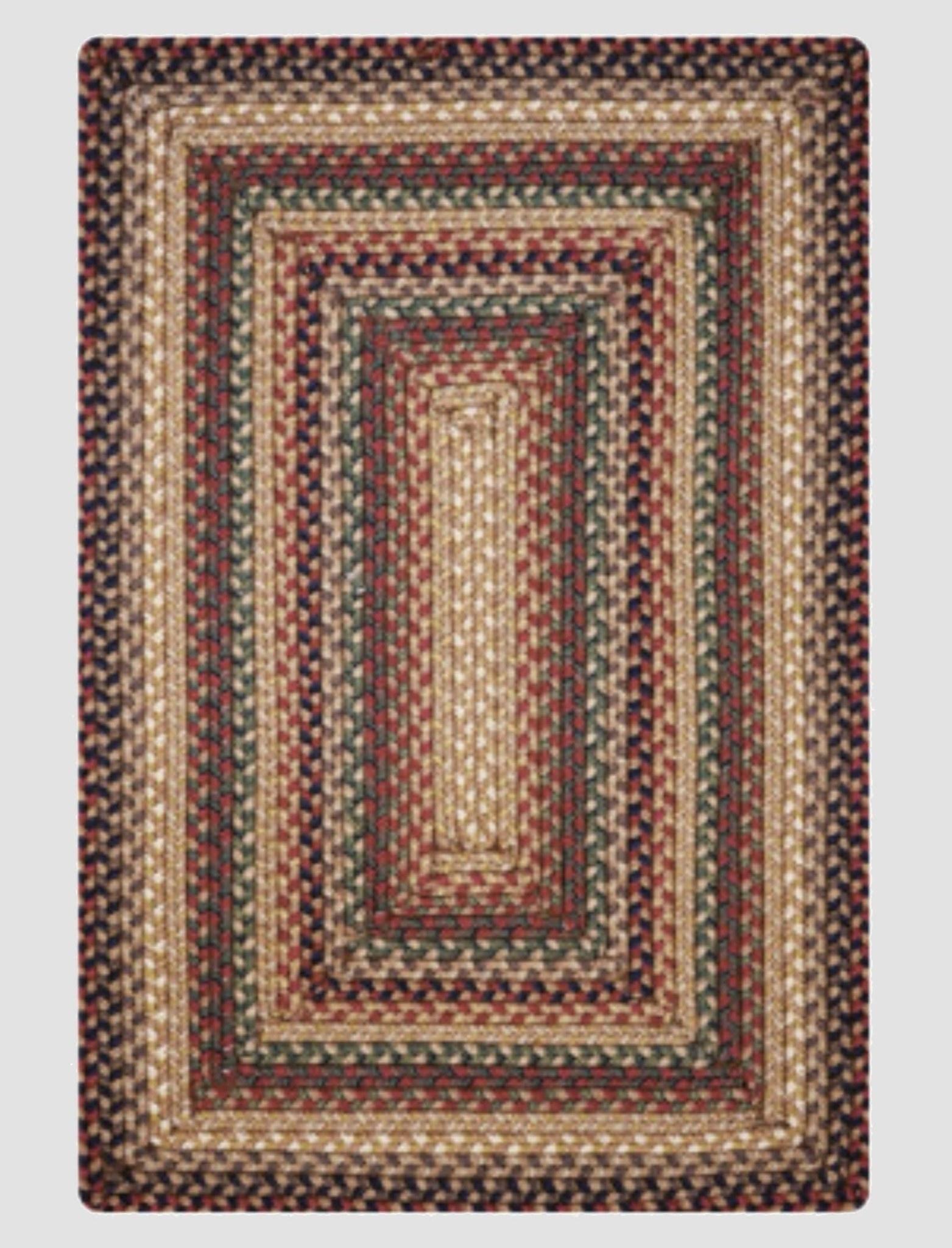 Homespice Decor Canterbury Ultra Wool Braided Rug - Rectangle