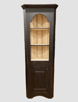 K H Custom Woodworking Tombstone Corner Cabinet