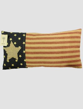 Nana's Farmhouse Americana Star Striped Pillow