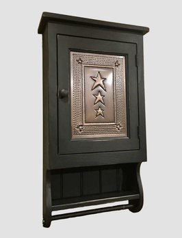 Rustic Wall Cabinet in Black