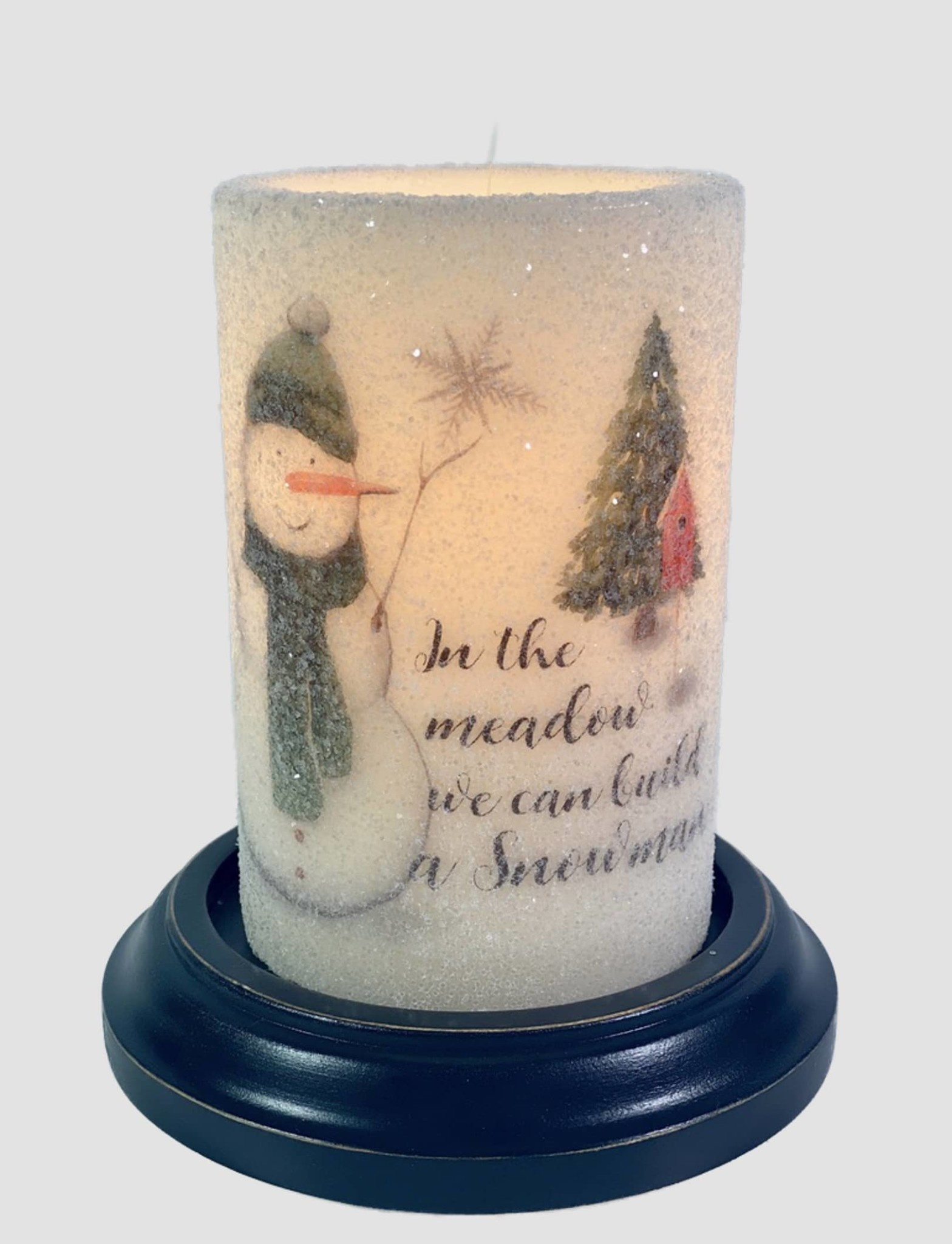 C R Designs In The Meadow Snowman Candle Sleeve