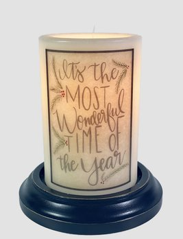 C R Designs It's The Most Wonderful Time Candle Sleeve