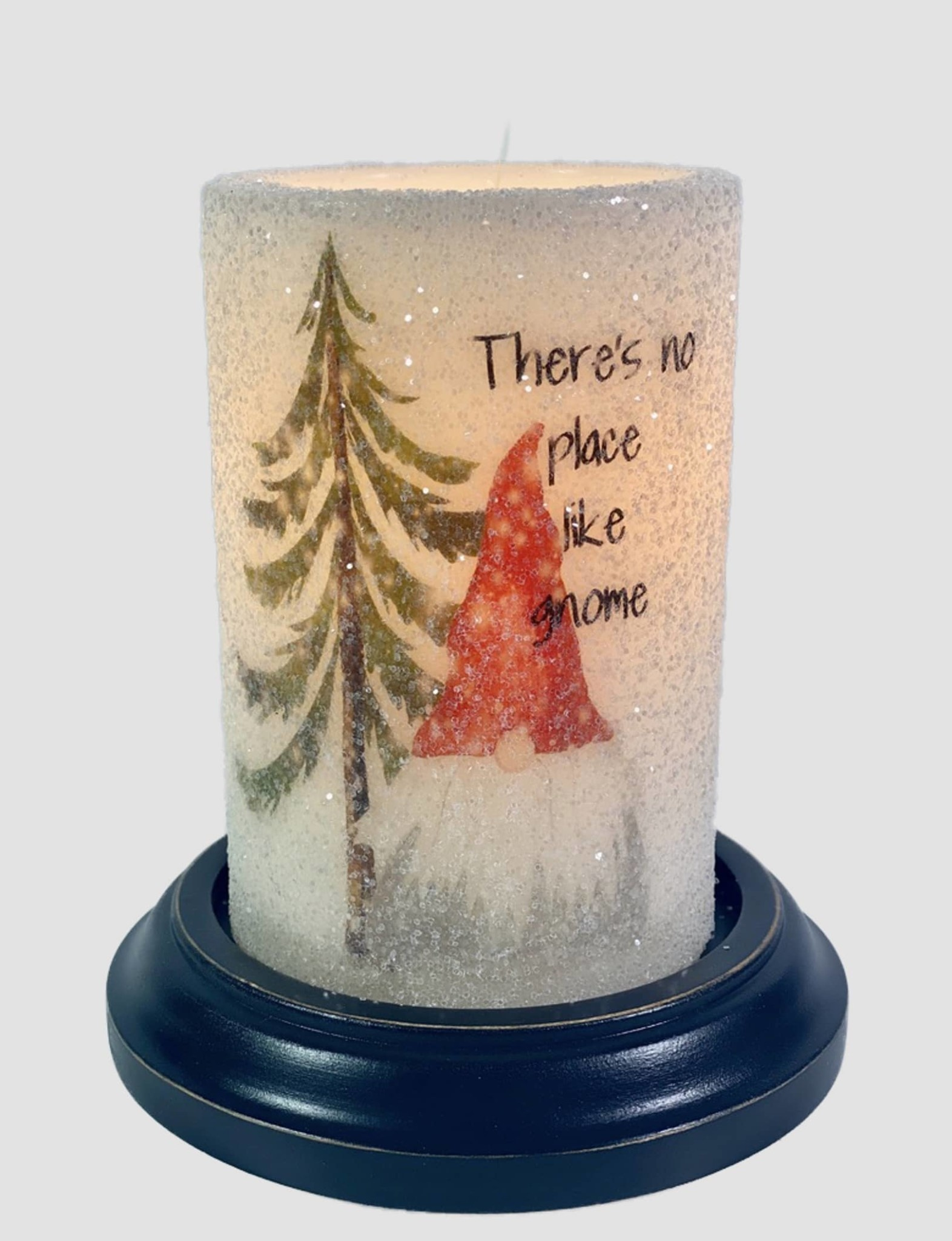 C R Designs No Place Like Gnome Candle Sleeve