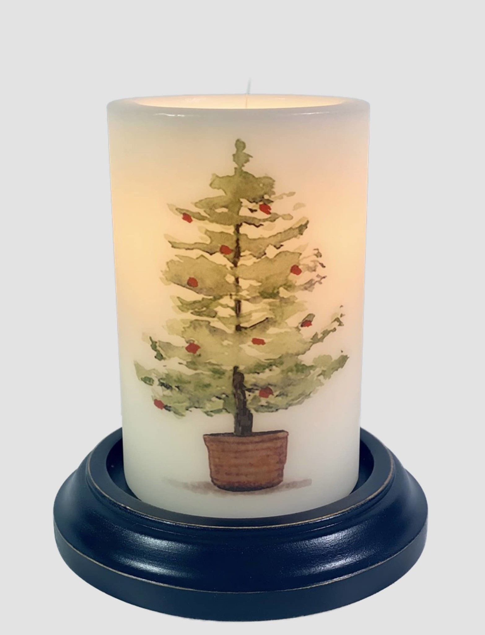 C R Designs Christmas Tree Candle Sleeve