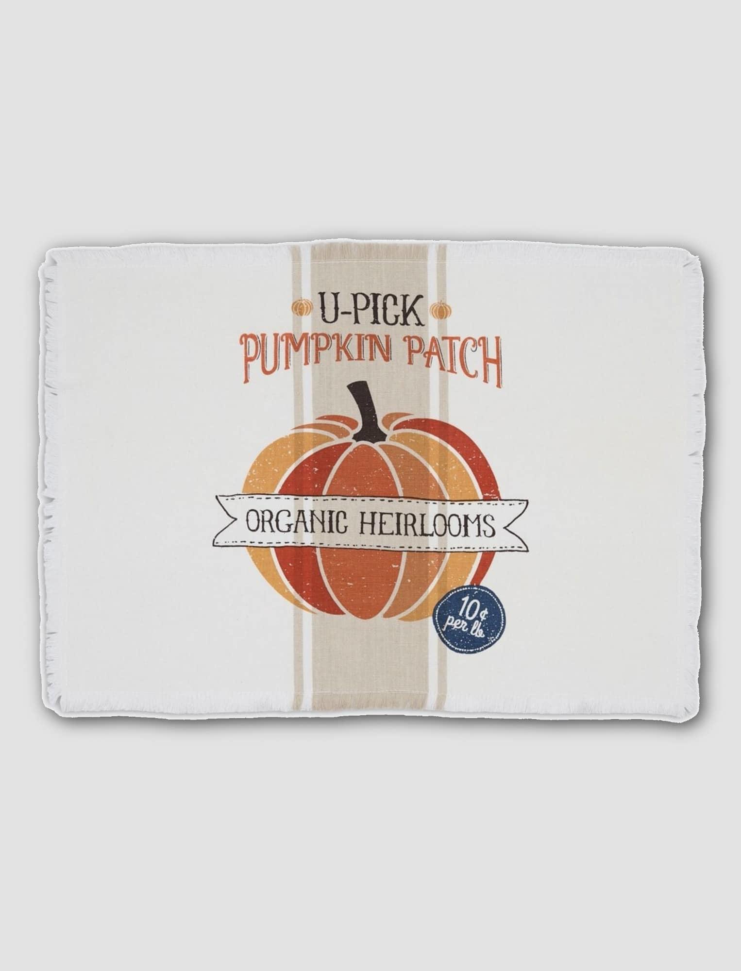 "Design Imports U-Pick Pumpkin Patch Printed Placemat 20"" W x 14"" T"