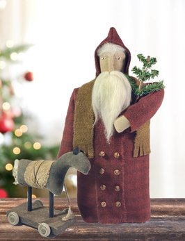 Nana's Farmhouse Santa with Horse Pull Toy