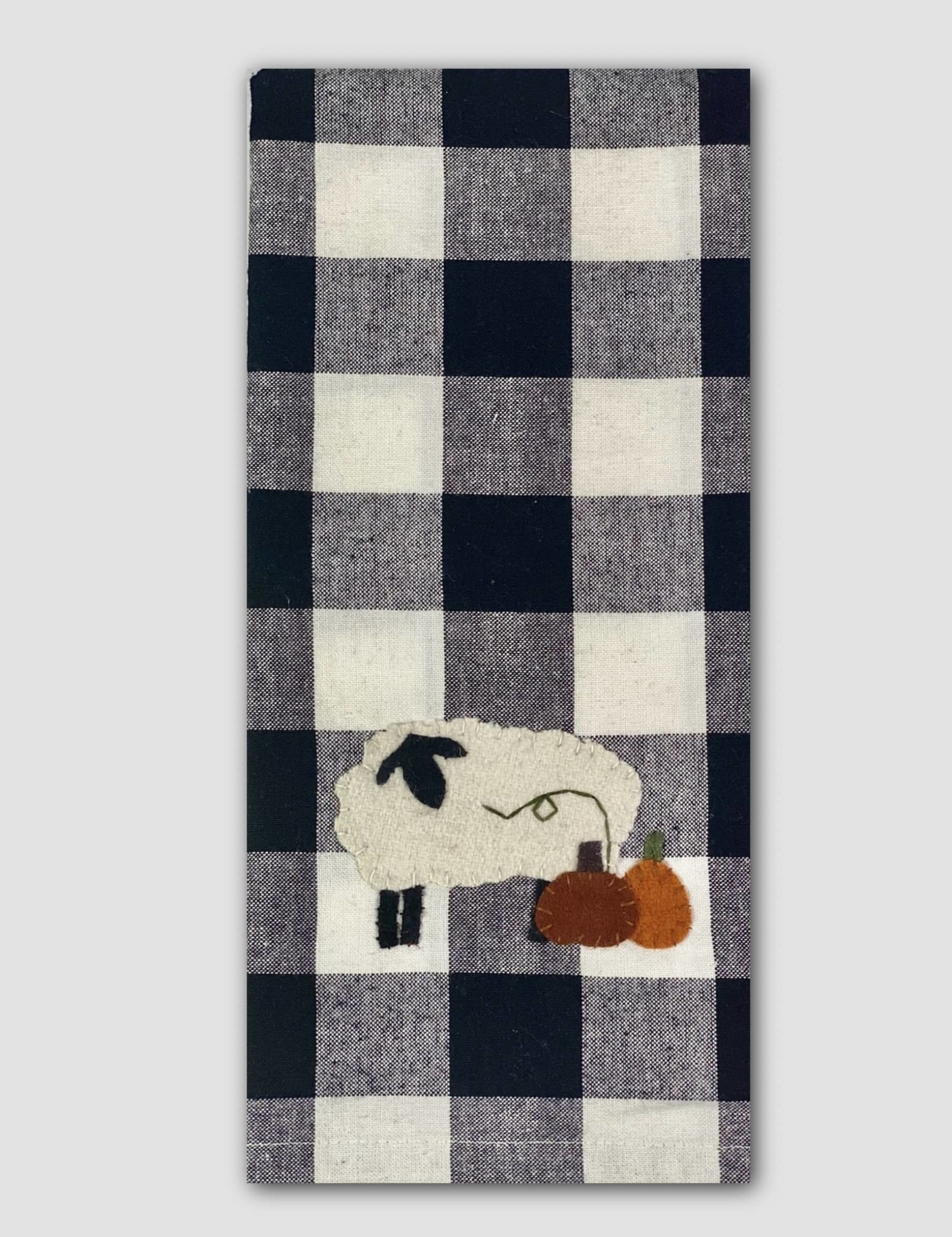 Home Collections By Raghu Pumpkin Patch Buffalo Check Towel