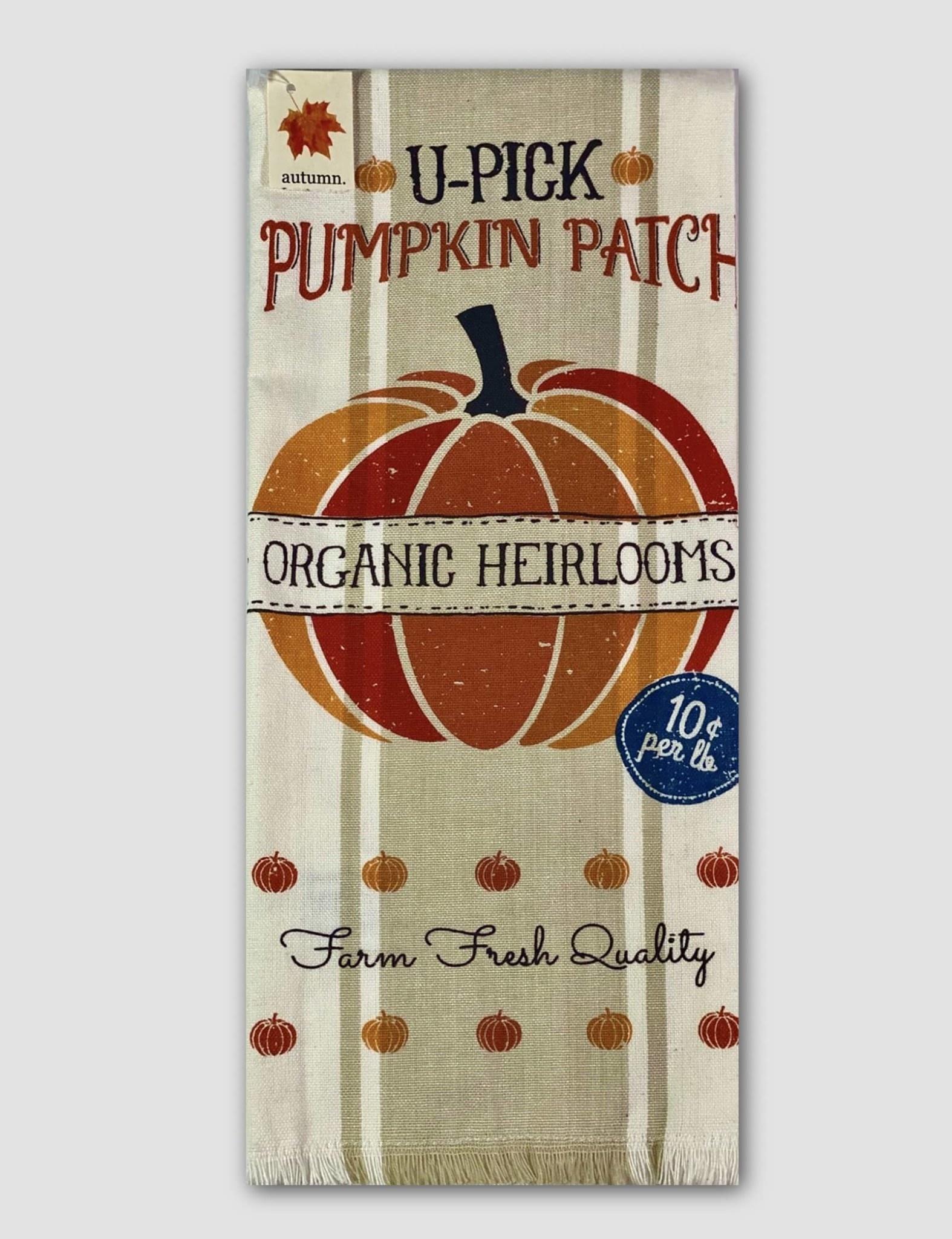Design Imports Pumpkin Farm Printed Dishtowel