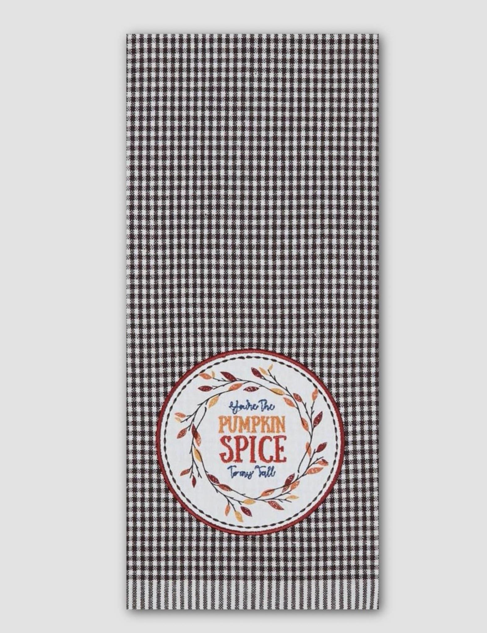 Design Imports Pumpkin Spice Embellished Dishtowel