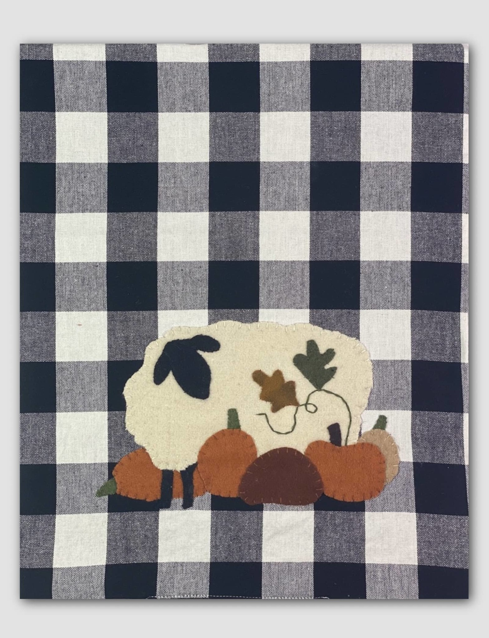 Home Collections By Raghu Pumpkin Patch Black-White Buffalo Check Table Runner