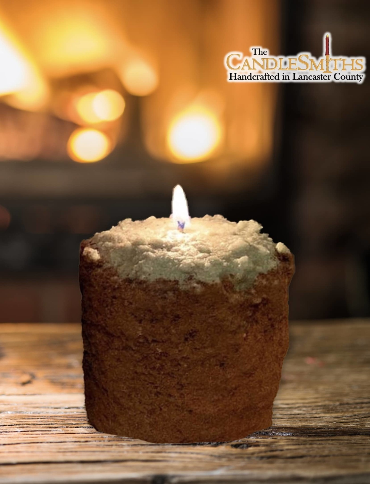 The Candlesmiths Country Garden Pillar Candle