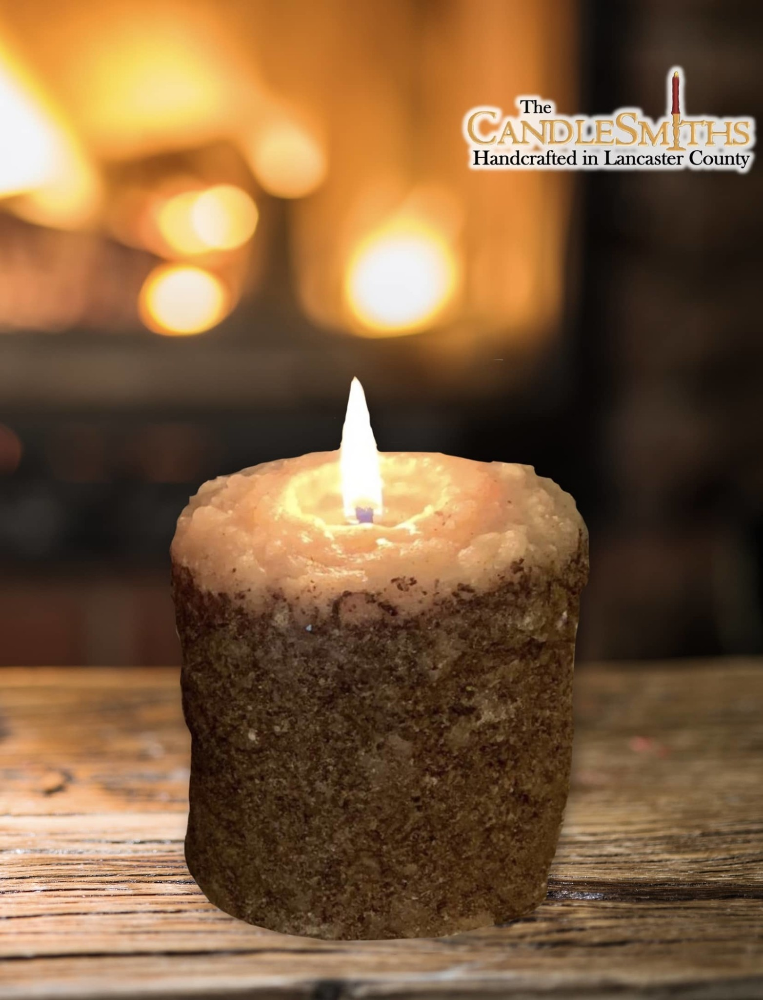 The Candlesmiths Snicker Doodle Pillar Candle - Small