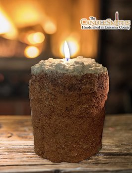 The Candlesmiths Cabin in the Woods Large Pillar Candle