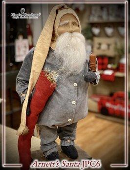 Arnett's JPC6 Arnett's Santa In Blue Union Suit