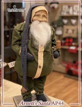 Arnett's AP44 Arnett's Santa Fat Green Union Suit Holding Candle