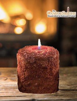 The Candlesmiths Apple Bourbon Pillar Candle