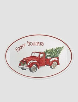 Mud Pie Vintage Truck Holidays Platter
