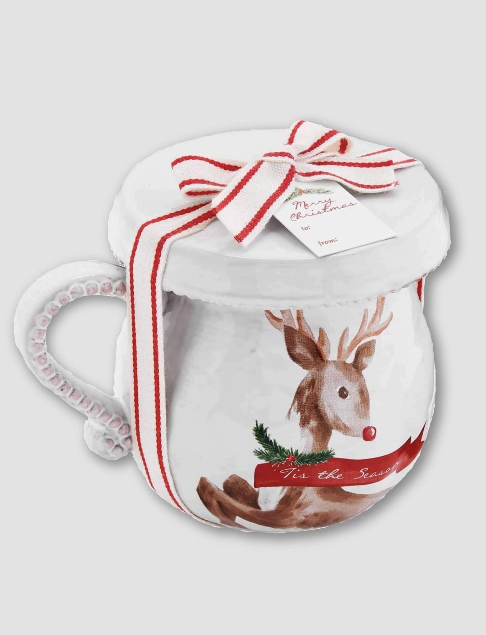 Mud Pie Deer Christmas Tea Mug