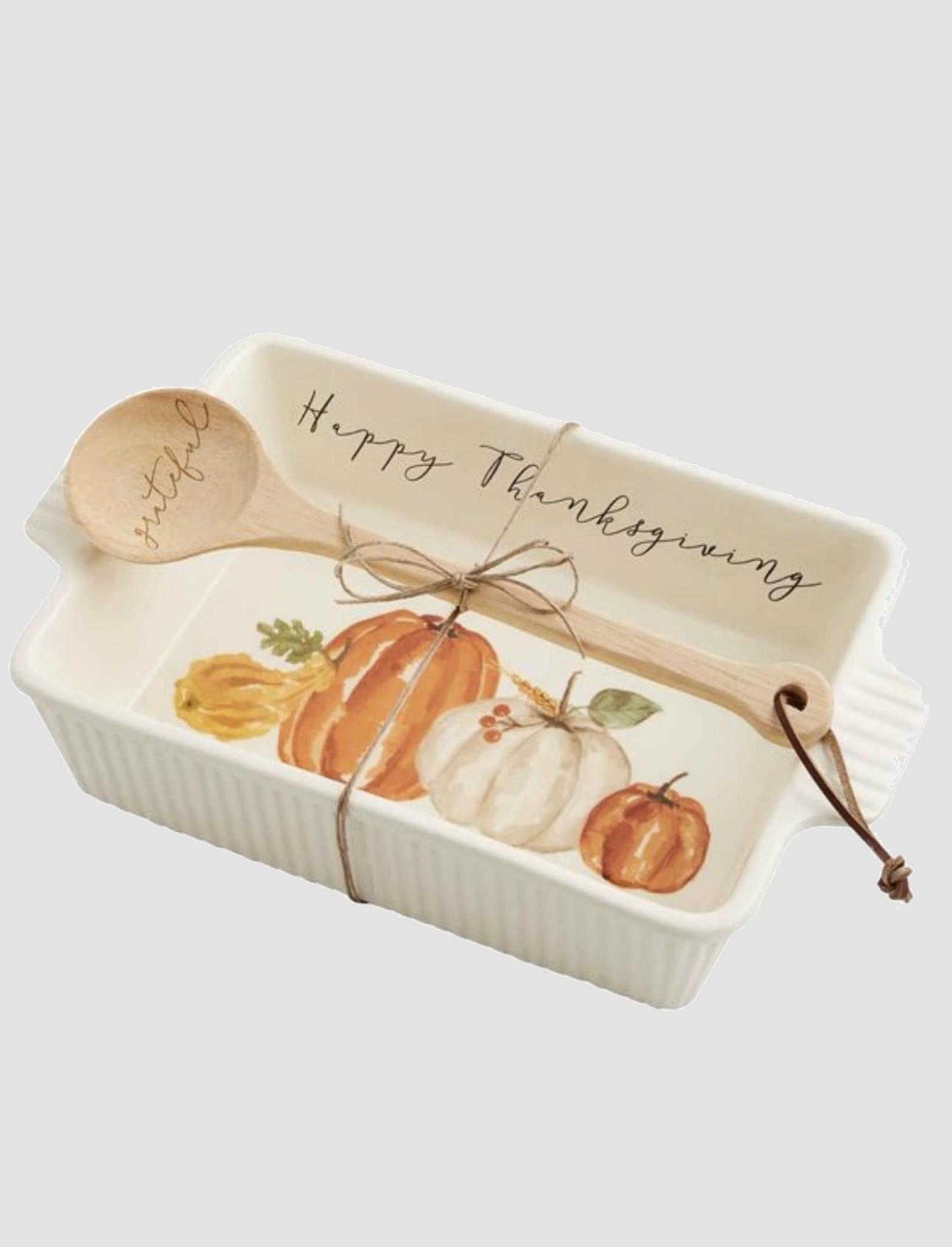 """Mud Pie Pumpkin Baker Set 13"""" L x 8"""" w x 3"""" T"""