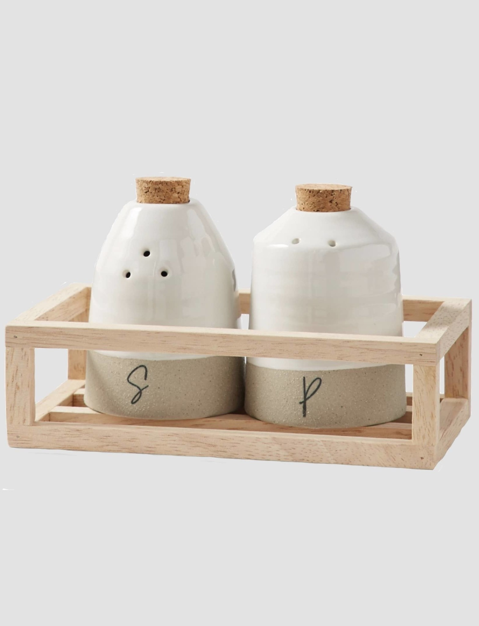 Mud Pie Salt & Pepper Crate Set