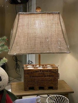 Audreys Country Fresh Eggs Lamp