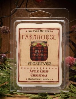 Herbal Star Candles Apple Crisp Christmas Mini Pack of Tarts