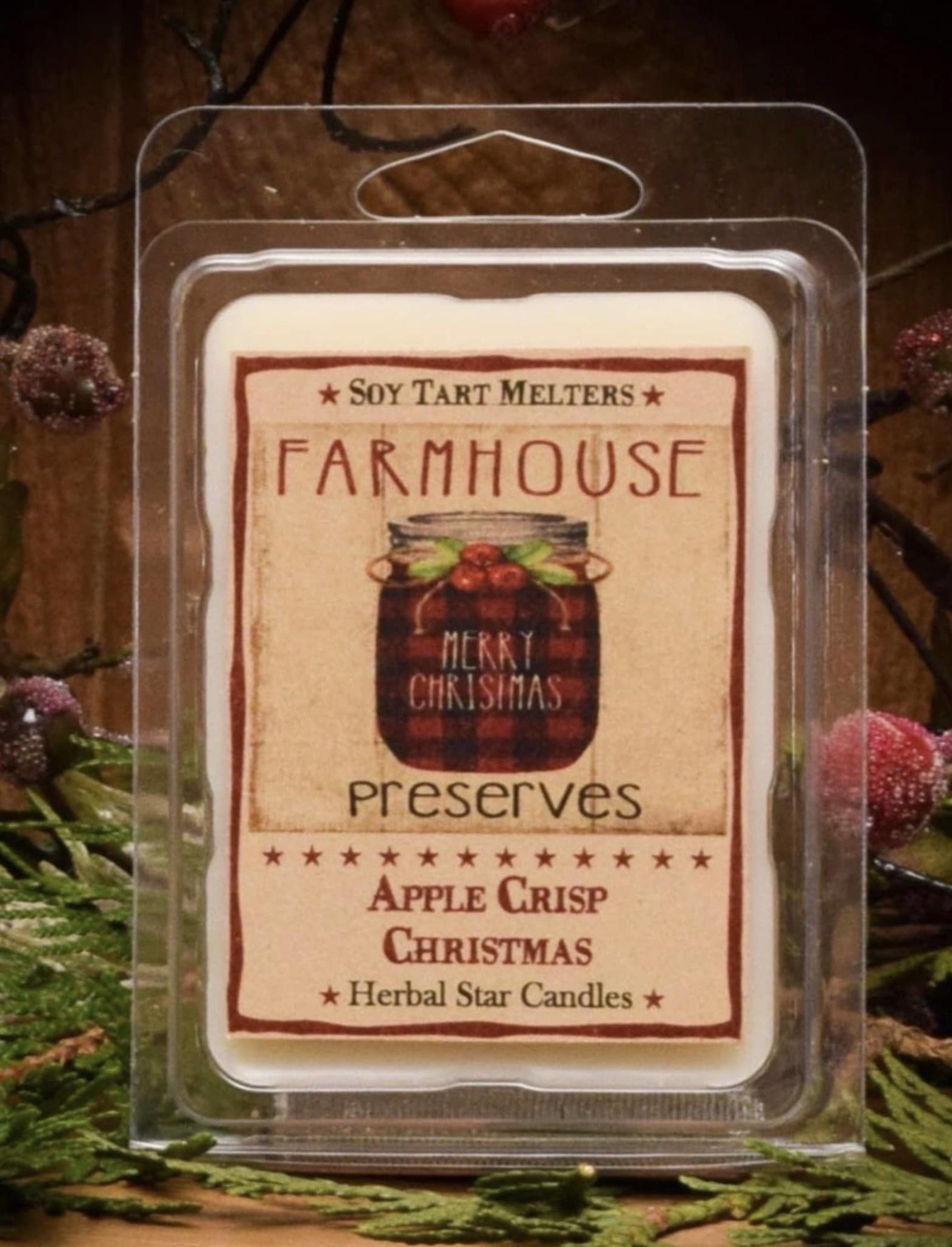 Herbal Star Candles Apple Crisp Christmas Mini Pack of Tarts