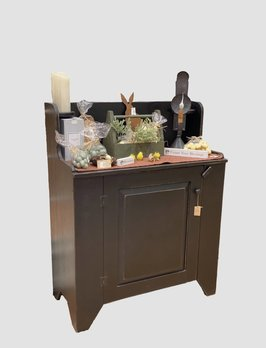 Nana's Farmhouse Candle Wash Stand Black Cabinet