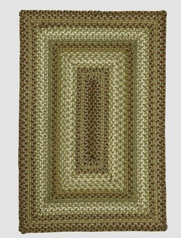 Homespice Decor Winter Wheat Ultra Wool Braided Rug