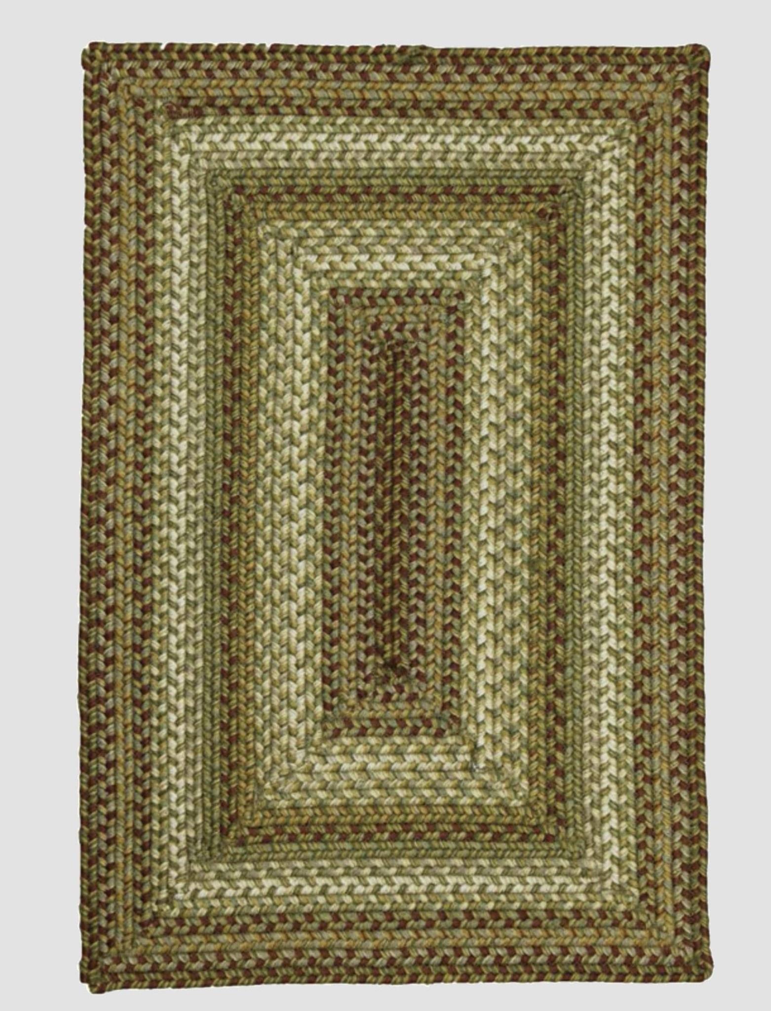 Homespice Decor Winter Wheat Ultra Wool Braided Rug - Rectangle