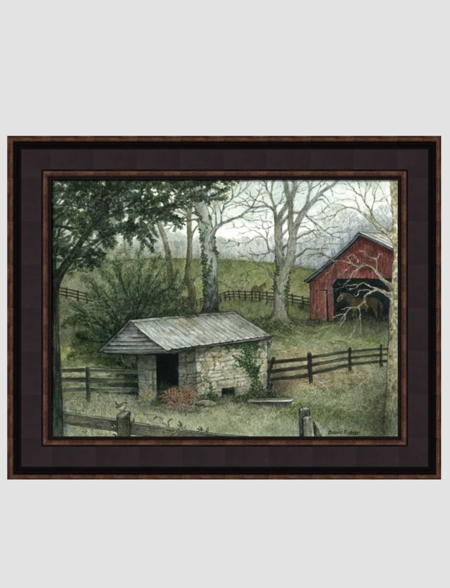 Bonnie Fisher Spring House by Bonnie Fisher - 16 x 12