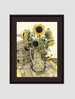Bonnie Fisher Country Sunflowers by Bonnie Fisher