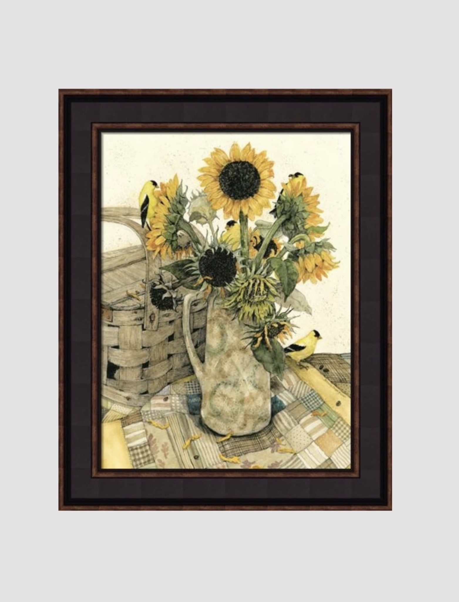 Bonnie Fisher Country Sunflowers by Bonnie Fisher - 16 x 12