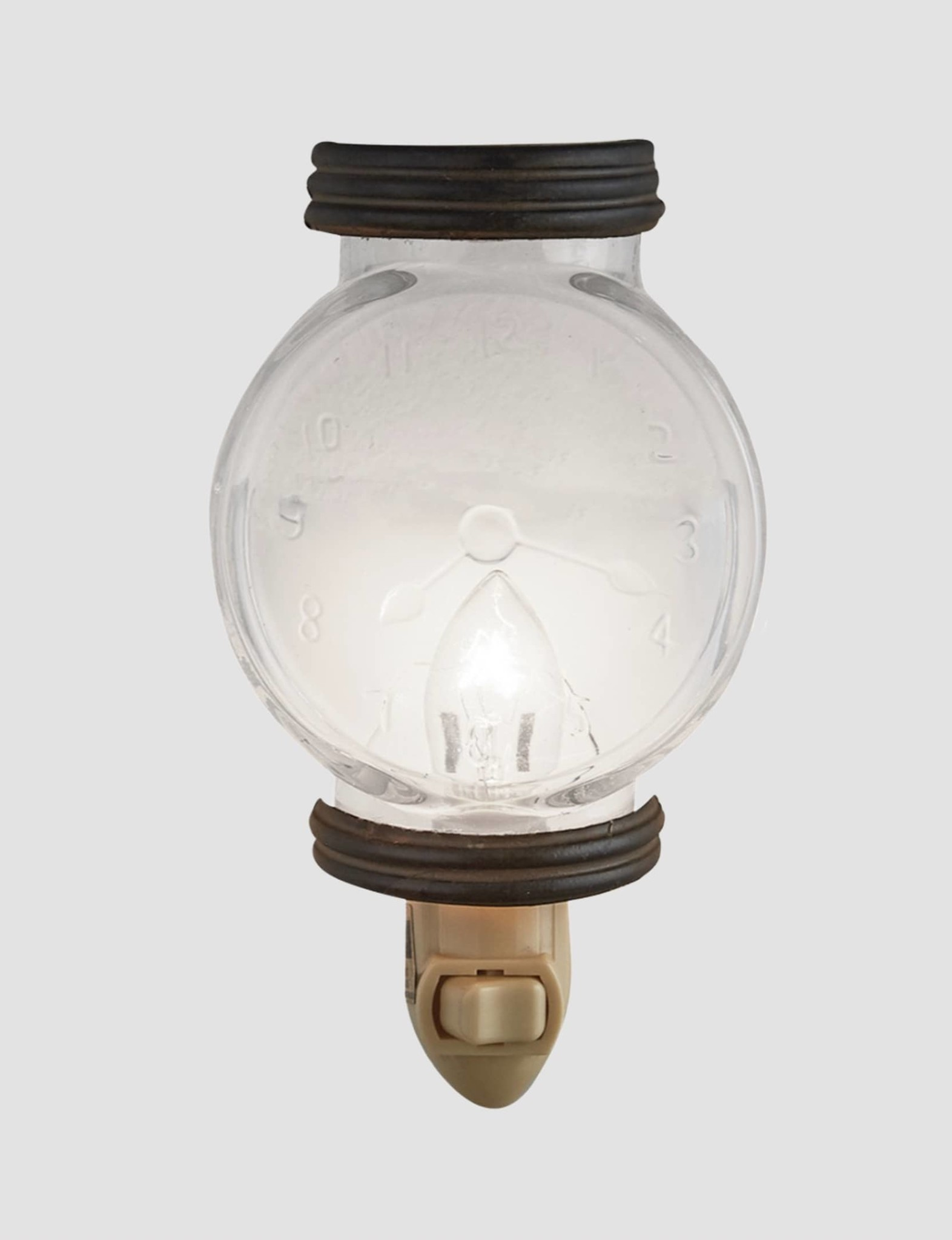 Park Designs Glass Clock Night Light