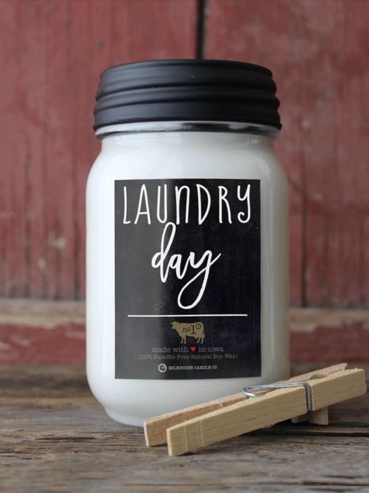 Milkhouse Candles Milkhouse Candle Laundry Day 13oz Mason Jar