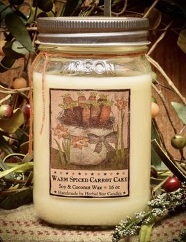 Herbal Star Candles Carrot Cake Soy Jar Candle