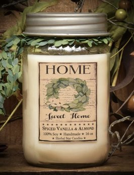 Herbal Star Candles Home Sweet Home Jar Candle