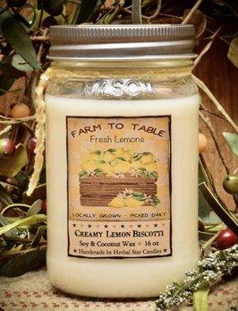Herbal Star Candles Lemon Daisy Soy Jar Candle