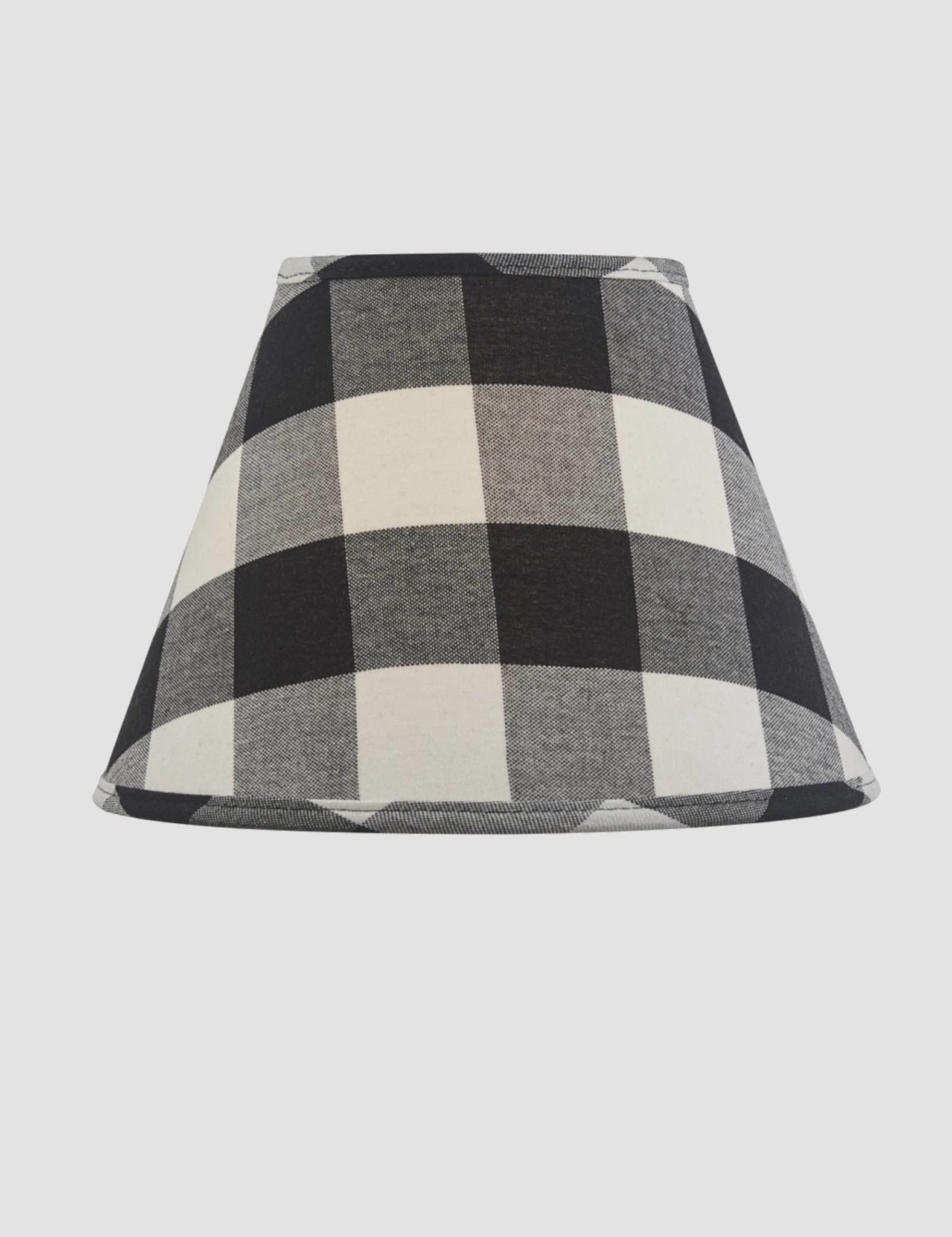 "Park Designs Wicklow Check Lampshade - Black & Cream - 10"""