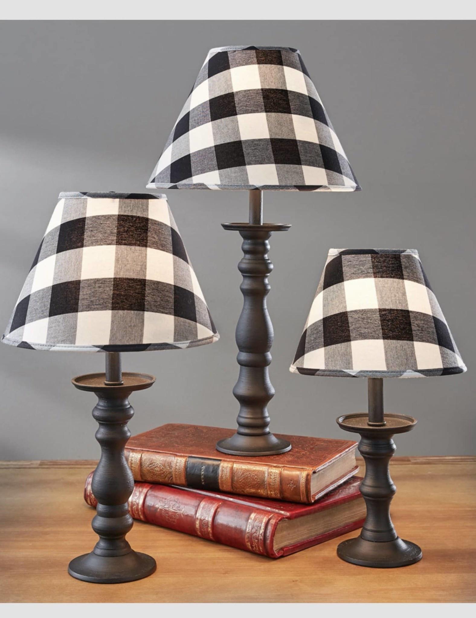 "Park Designs Wicklow Check Lampshade - Black & Cream - 12"""