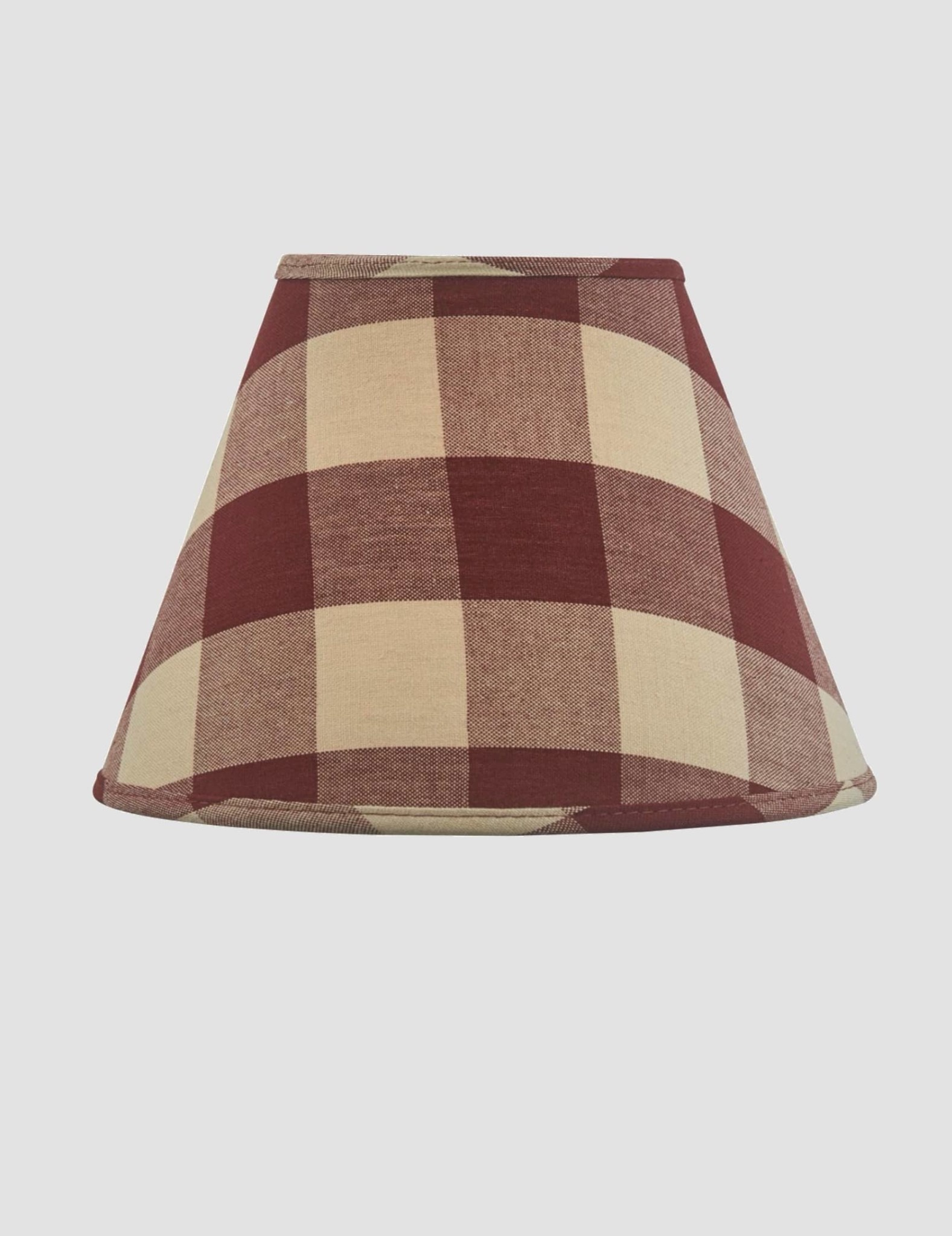 Park Designs Wicklow Check Lampshade - Garnet - 10""
