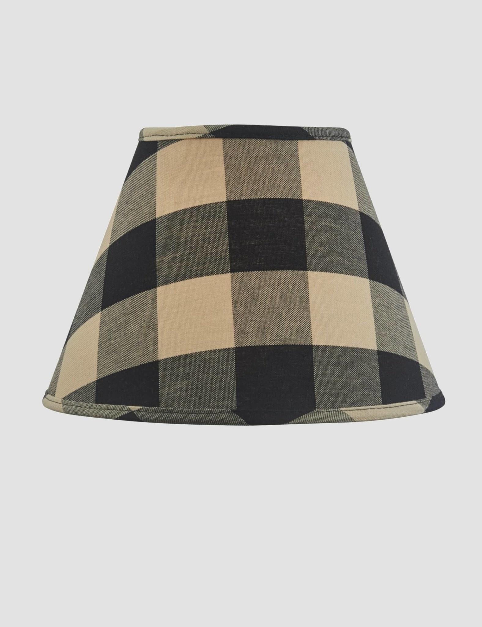 "Park Designs Wicklow Check Lampshade - Black - 10"""