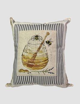 Nana's Farmhouse Honey Pot Pillow Black Ticking