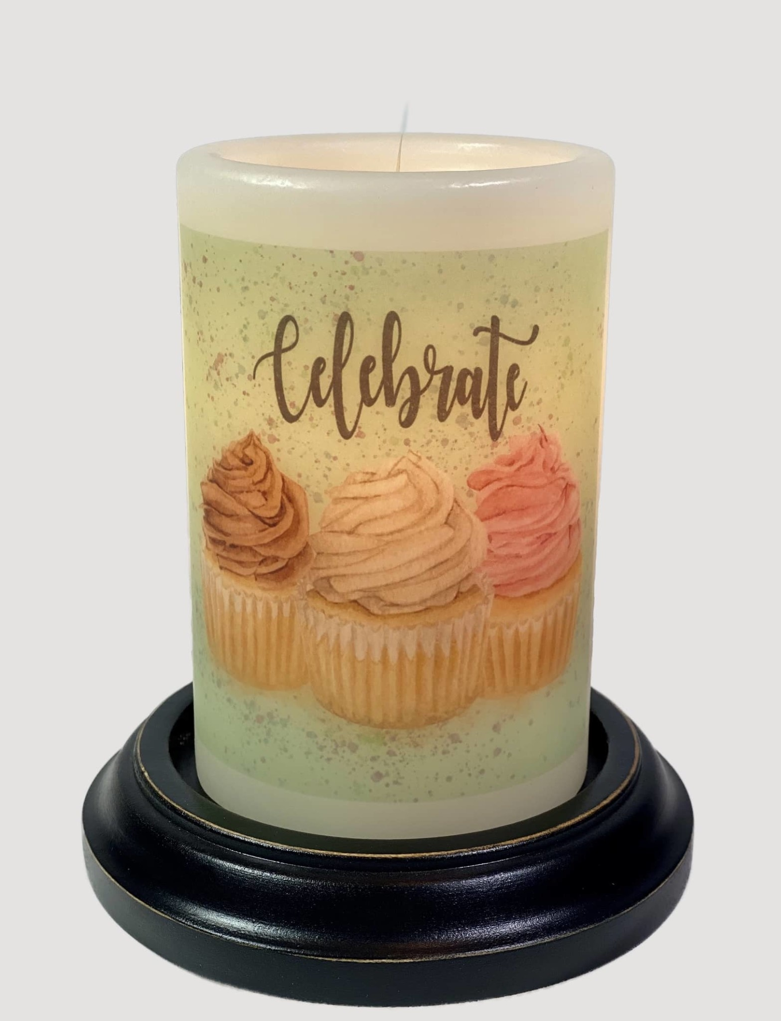C R Designs Celebrate Cupcakes Vanilla Candle Sleeve