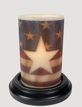 C R Designs Americana Star Vanilla Candle Sleeve
