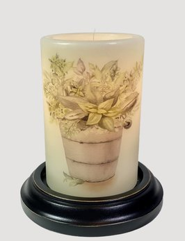 C R Designs Rusty Bucket Greens Candle Sleeve