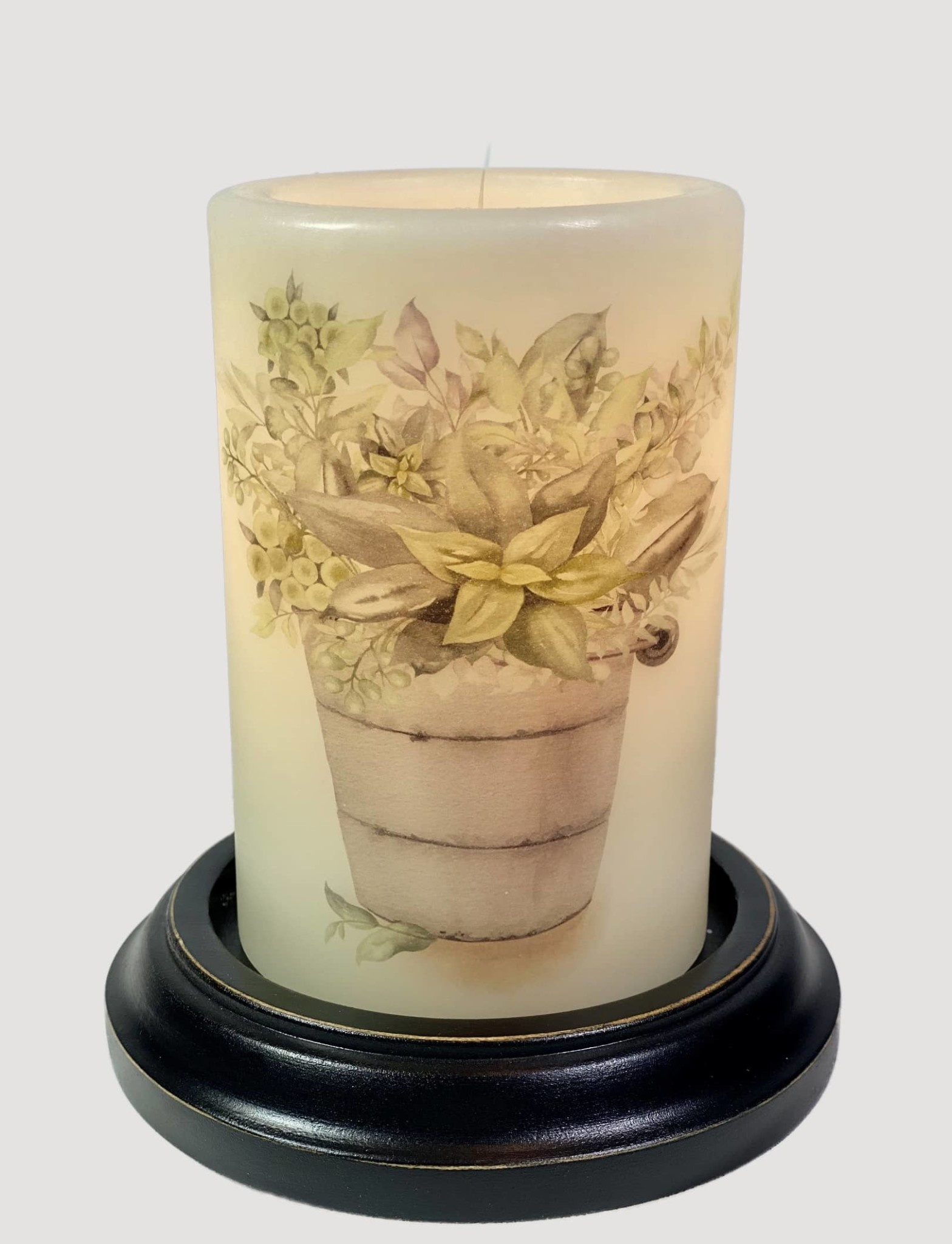 C R Designs Rusty Bucket Greens Candle Sleeve