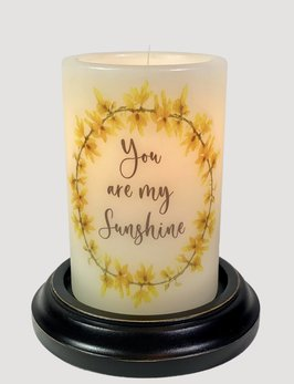 C R Designs You are My Sunshine Wreath Candle Sleeve